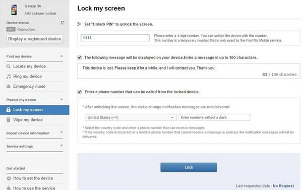 selecionar desbloquear minha tela