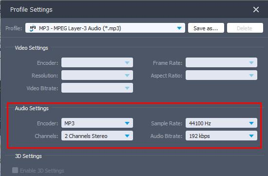 Ajustar la configuración de audio :