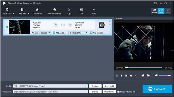 Importar archivo de vídeo.