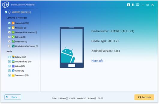 Aiseesoft FoneLab Android recuperar fotos oculta