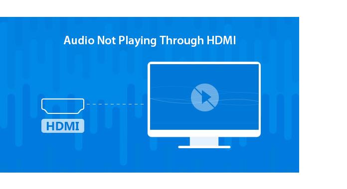 Audio não tocando HDMI
