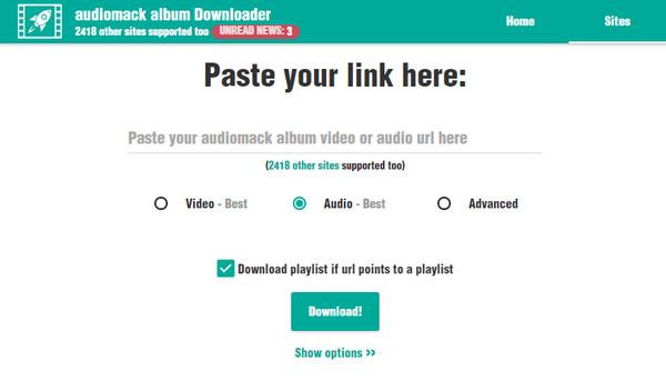 Baixar audiomack online