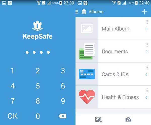 Apps esconder fotos - Keepsafe