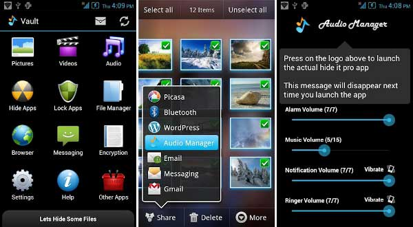 Apps ocultar fotos - Hide it pro