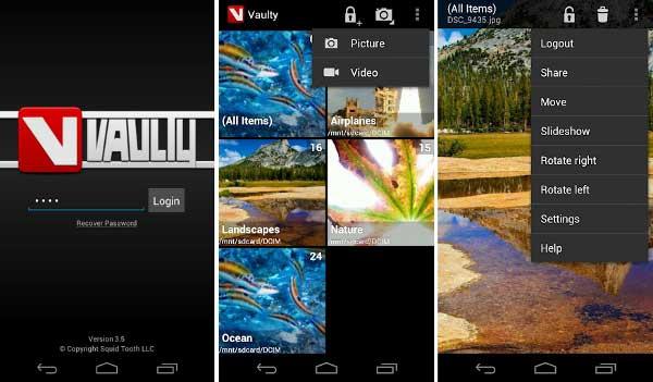 Apps esconder fotos - Vaulty