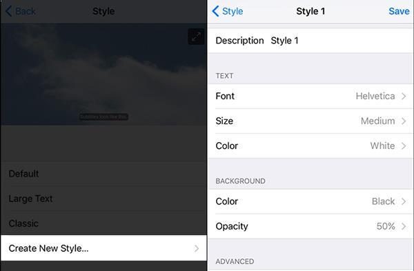 Establezca  subtítulos en Apple TV