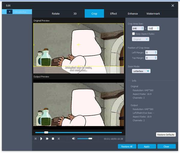 Recortar para quitar los subtítulos de vídeo MKV