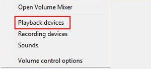 El dispositivo de audio predeterminado