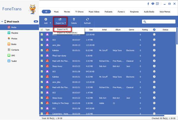 Dicas exportar iTunes