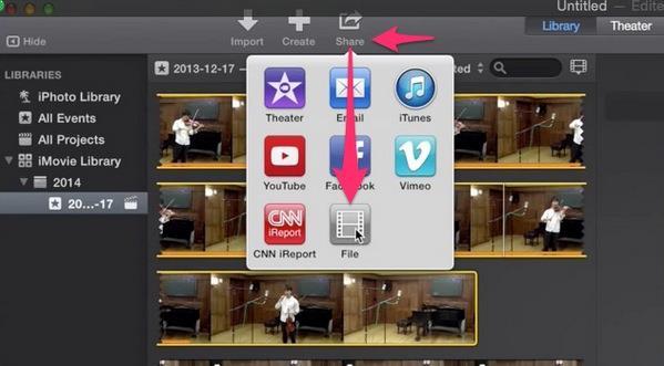 Exportar vídeo en iMovie