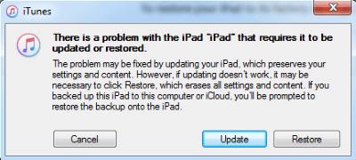 Modo Recuperação iPad