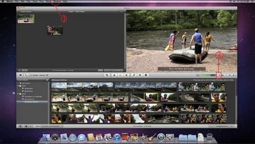 Passo 1 adicionar audio iMovie