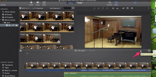 Passo 1 cortar áudio iMovie