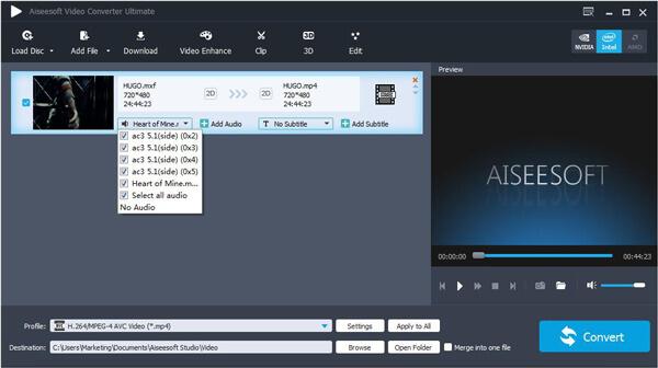 Passo 2 adicionar áudio vídeo