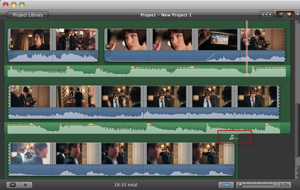 Passo 3 adicionar audio iMovie
