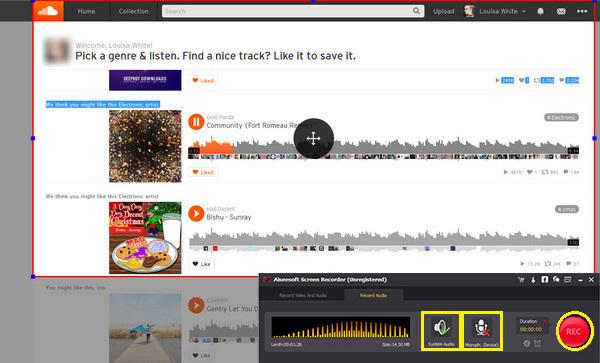 Passo 3 gravar SoundCloud