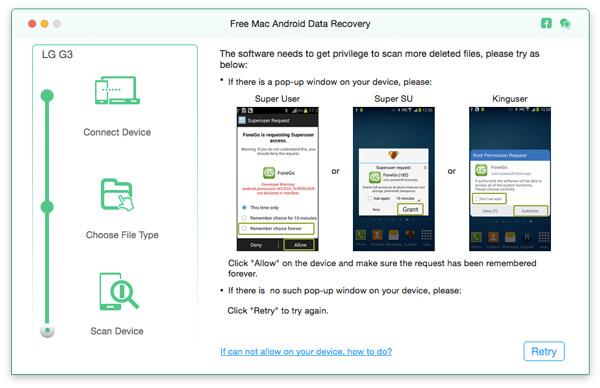 Passo 3 transferir arquivos Android Mac