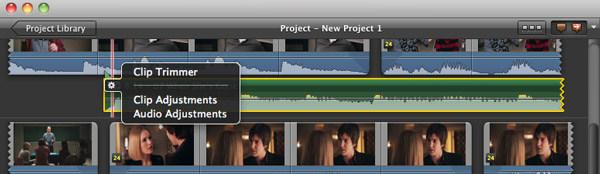 Passo 4 adicionar audio iMovie