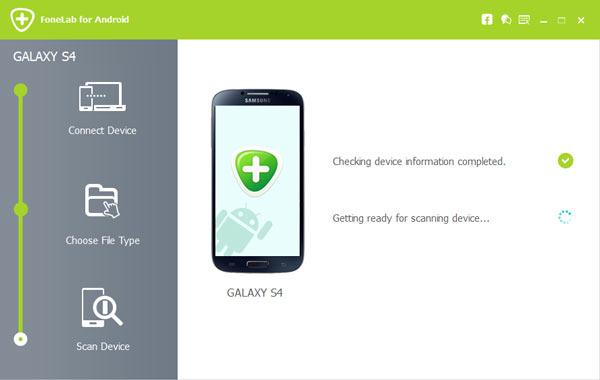 Passo 4 recuperar contatos Samsung