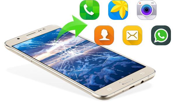 Recuperar dados Samsung tela quebrada