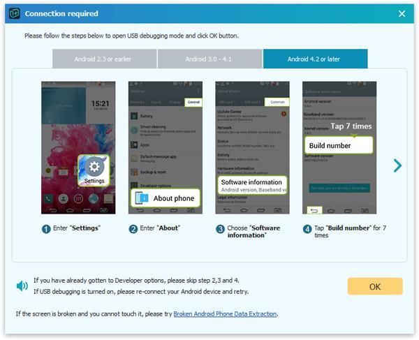 Paso 2 Recuperar mensajes Motorola