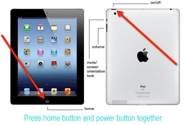 Reiniciar tela preta iPad