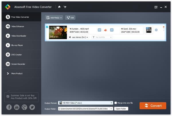 Agregar vídeo a 4K Video Converter gratis