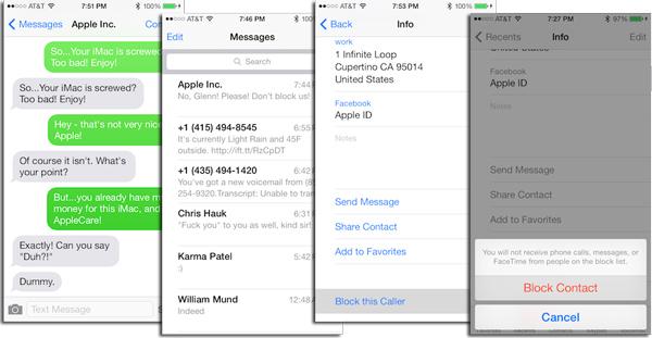 Bloquear mensagens app