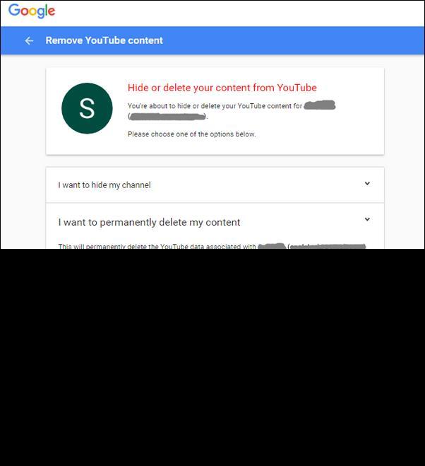 Borrar contenido de YouTube