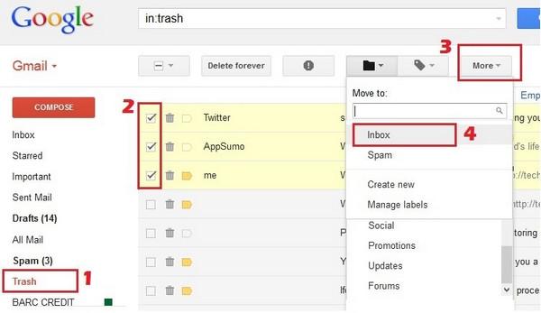 como recuperar mensagens gmail