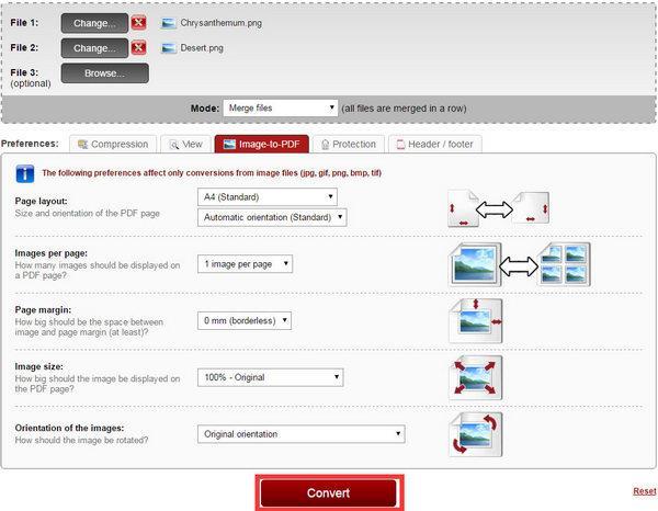 Convertir  PNG a PDF Online