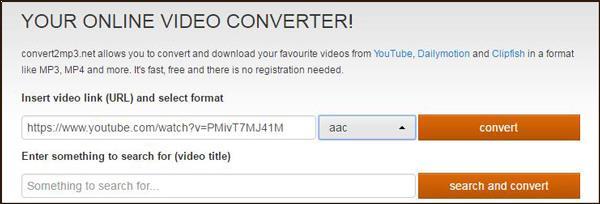 Convertir YouTube a AAC en línea