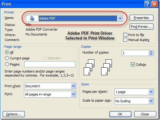 Imprimir  PDF de Adobe