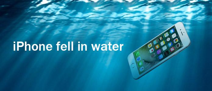 iphone caido na agua