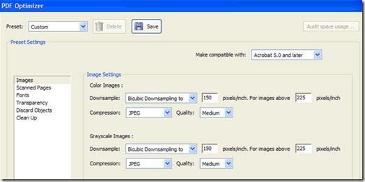 Optimizador de PDF de Adobe