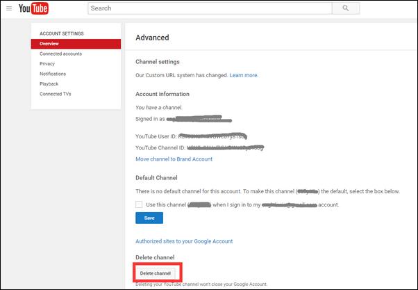 parte 4 como deletar canal youtube