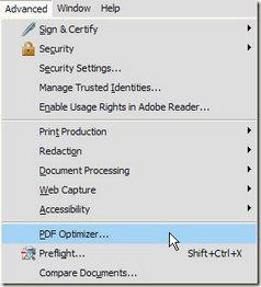 passo 1 reduzir pdf com adobe optimizer
