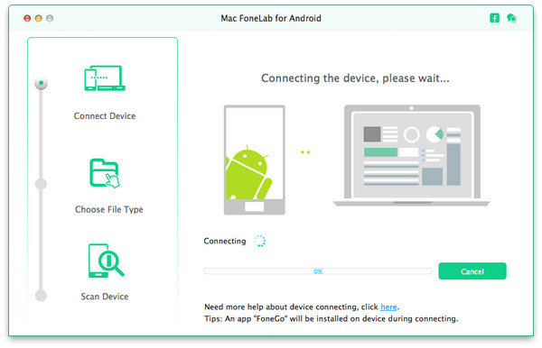 passo 1 transferir fotos android para mac
