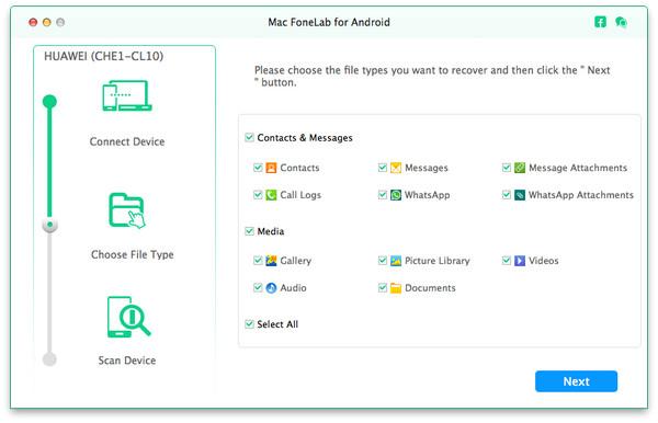 passo 2 transferir fotos android para mac