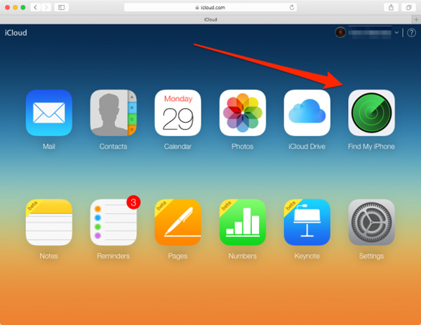 passo1 usar icloud para remover dispositivo ios