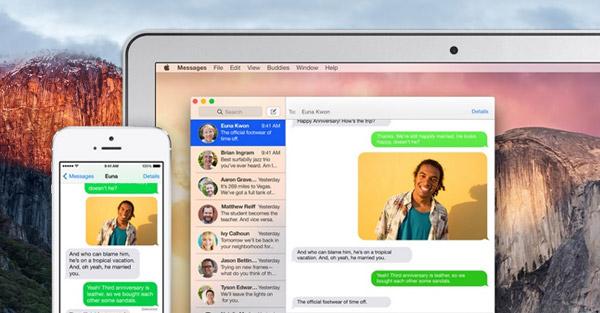 sincronizar mensagens no mac