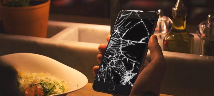 tela quebrada do iphone