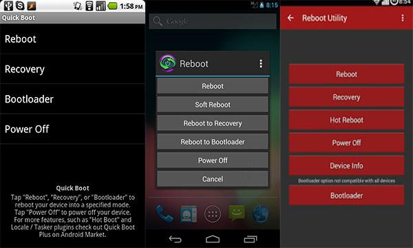 usar aplicativo para reiniciar