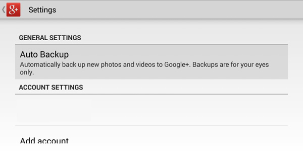 backup de fotos com google