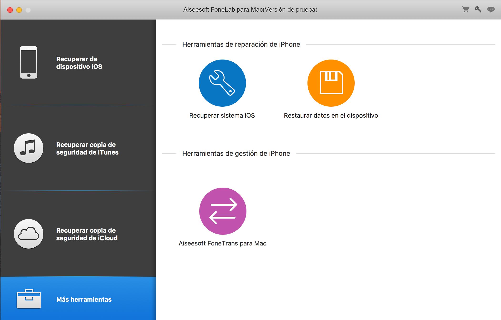 Más herramientas para la reparación/recuperación de dispositivos iOS