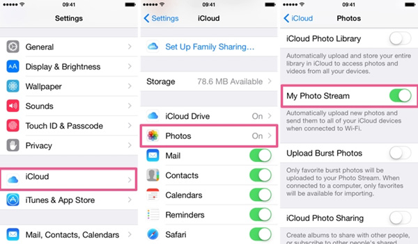 passo 1 como transferir fotos icloud para android