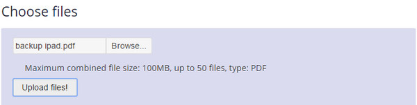 passo 1 cortar aqruivos pdf online