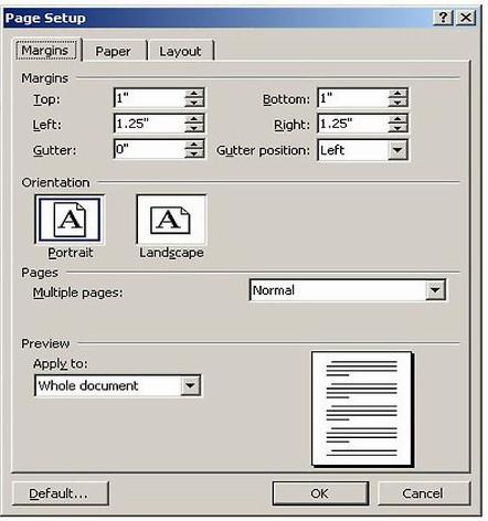 passo 2 ajustar margem do arquivo