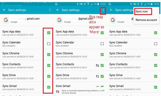 passo 2 backup android para google