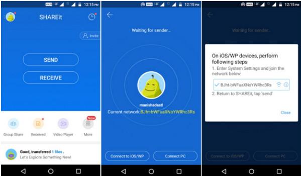 passo 2 enviar fotos do android para iphone